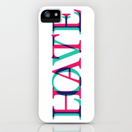 Love and Нate iPhone Case