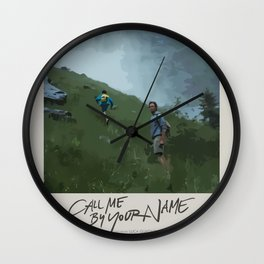 Call Me by Your Name (2017) Minimalist Poster -  Wall Clock