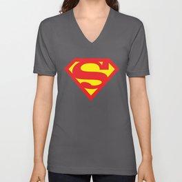 SUPERMAN Christopher Reeve cape suit 70s 80s fly movie hero retro Funny 70s Unisex V-Neck