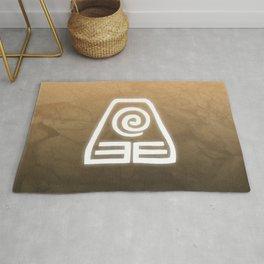 Avatar Earth Bending Element Symbol Rug