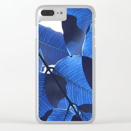 Close Up Leaves II Clear iPhone Case