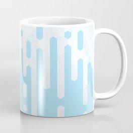 Marble and Geometric Diamond Drips, in Blue Coffee Mug