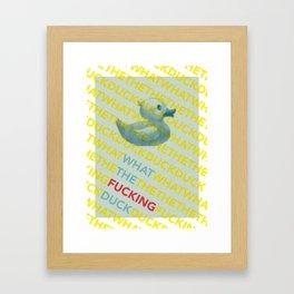 What The Duck?! Framed Art Print