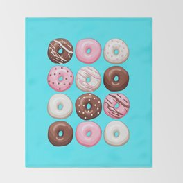 Donuts Party Throw Blanket