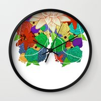 lungs Wall Clocks featuring lungs by Taylor {GANGST★R}