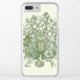 green think Clear iPhone Case