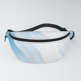 wavy lines pattern wb Fanny Pack