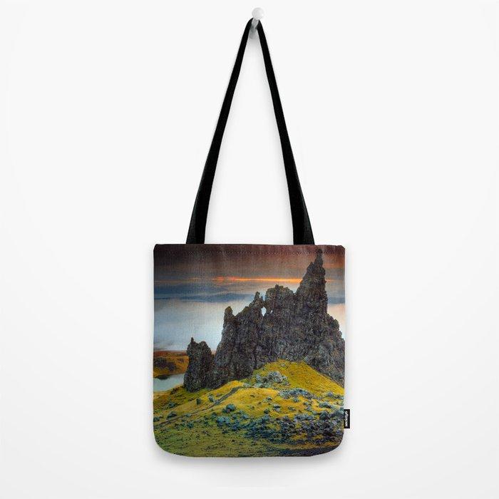 Rock falaise Ecosse Tote Bag