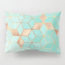 Soft Gradient Aquamarine Pillow Sham