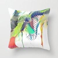 archan nair Throw Pillows featuring Azalia by Archan Nair