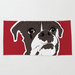 American bull Beach Towel