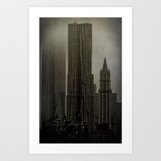 Concrete, Steel & Glass Art Print