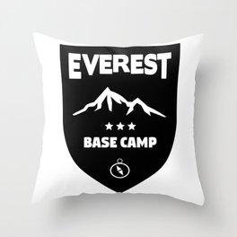 Mount Everst Base Camp Throw Pillow
