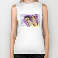 tyler durden Biker Tanks featuring Tyler Durden - Ed Norton - Brad Pitt - Quotes by Matty723