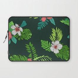 Hawaiian Vintage Tropical Flowers Laptop Sleeve