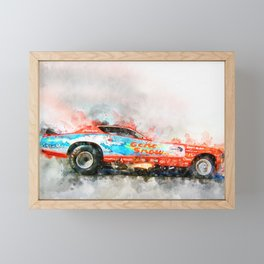 Gene Snow, Snowman Framed Mini Art Print