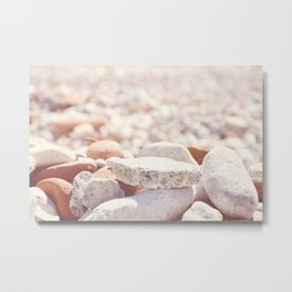 AFE Beach Rocks, Beach Photography Metal Print
