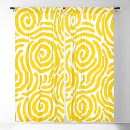 Ripple Effect Pattern Yellow Blackout Curtain