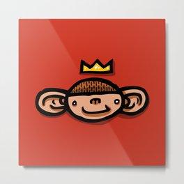 Choppy Monkey Metal Print