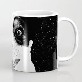 jack russell terrier dog space crazy va bw Coffee Mug