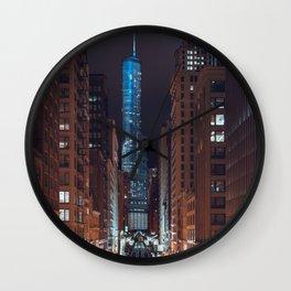 Skyscraper in Chicago Wall Clock