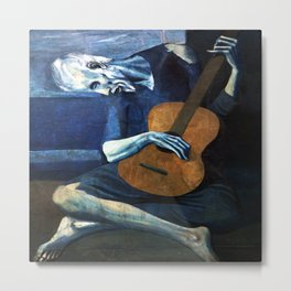 Pablo Picasso The Old Guitarist Metal Print