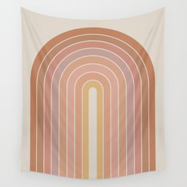 Gradient Arch - Natural Tones Wall Tapestry