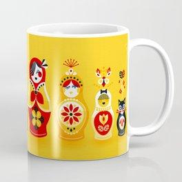 Russian Nesting Dolls – Yellow & Red Coffee Mug