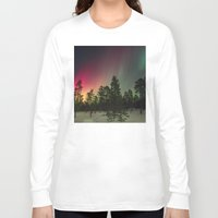 northern lights Long Sleeve T-shirts featuring Northern Lights  by Limitless Design