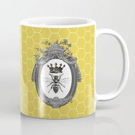 Queen Bee | Vintage Bee with Crown | Honeycomb | Coffee Mug