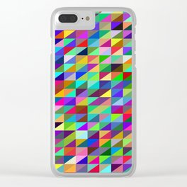 Colorful small trangles digital pattern Clear iPhone Case