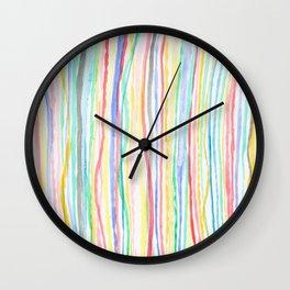 Vertical Pastel Stripes Wall Clock