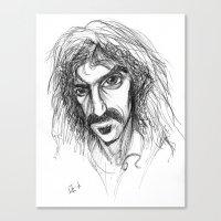 zappa Canvas Prints featuring Zappa by Mark T. Zeilman