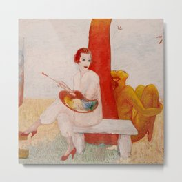"Florine Stettheimer ""Self-Portrait with Palette"" Metal Print"