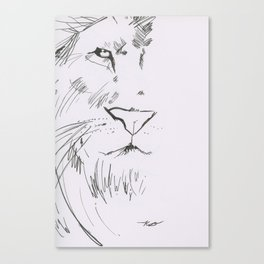 The Lord is a Lion Canvas Print