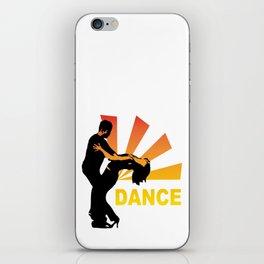 dancing couple silhouette - brazilian zouk iPhone Skin