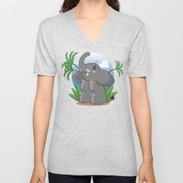 The Littlest of Elephants Unisex V-Neck