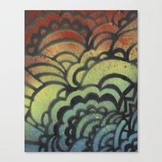Drawing Meditation Stencil 1 - Print 9 Canvas Print
