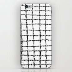 Black and white grid abstract minimal gridded pattern gifts basic nursery home decor iPhone Skin