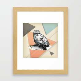 Owl McSit by carographic Framed Art Print