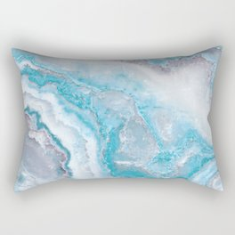 Ocean Foam Mermaid Marble Rectangular Pillow