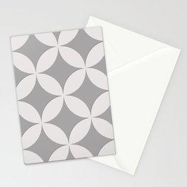 Grey pattern Stationery Cards