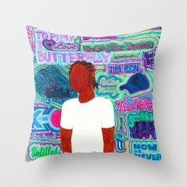 Kendrick Psychedelia Throw Pillow