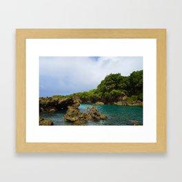 Ague Cove- Guam Framed Art Print