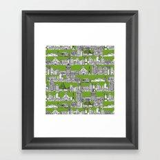 San Francisco green Framed Art Print
