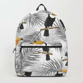 Toucan with palm leaves Backpack
