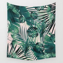 Tropical Jungle Leaves Siesta #2 #tropical #decor #art #society6 Wall Tapestry