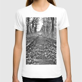tracks in the forest T-shirt