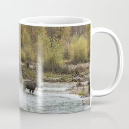 Moose Mid-Stream - Grand Tetons Coffee Mug