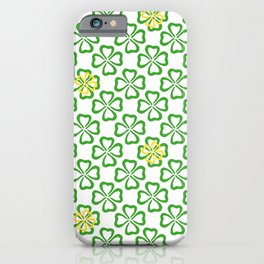Clover Leaves Pattern iPhone Case